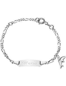 Schmuck-Pur Echt Silber Kinder-ID-Armband Babyarmband