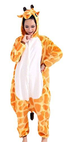 Auspicious beginning Bequemer Giraffe Pyjamas Tierkarnevalskostüm für Erwachsene