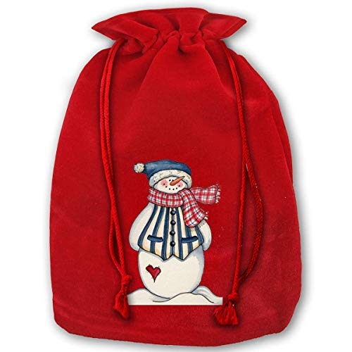 Kordelzugbeutel Fgrygf 3 Pack Christmas Drawstring Gift Bags Santa Sack Backpack for Party Favors and Candy, Cute Christmas Clip ()