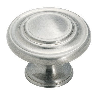 Amerock Cabinet Knob 1-3/8 Dia. Inspirations Collection Satin Nickel by Amerock - Collection Satin Nickel Cabinet Knob