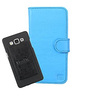 DooDa Genuine Leather Wallet Flip Case Cover With Card & ID Slots For Micromax Canvas HD A116i - Back Cover Not Included Peel And Paste