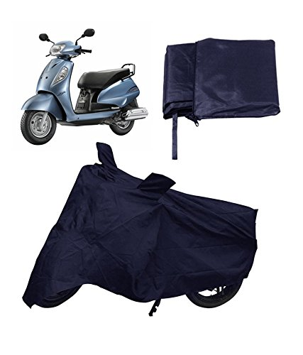 Autofier Premium Quality Bike Body Cover Blue For Suzuki Slingshot Plus (Drum , Self)  available at amazon for Rs.345