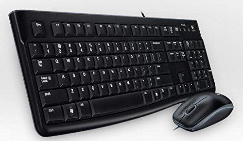 Logitech MK120 - Pack de Teclado y ratón, Color Negro - QWERTY Portugués