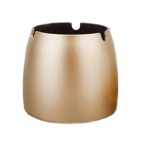 Aschenbecher aus Edelstahl, Stabiler morderner Windaschenbecher für Innen- oder Außenbereich 8 x 6 x 7 cm Gold Test