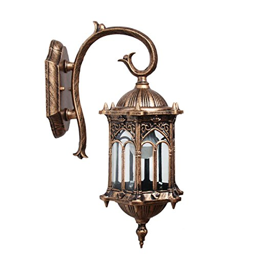 Homestia Wand-Laterne One-Light äußere Exquisite Royal Style Bronze