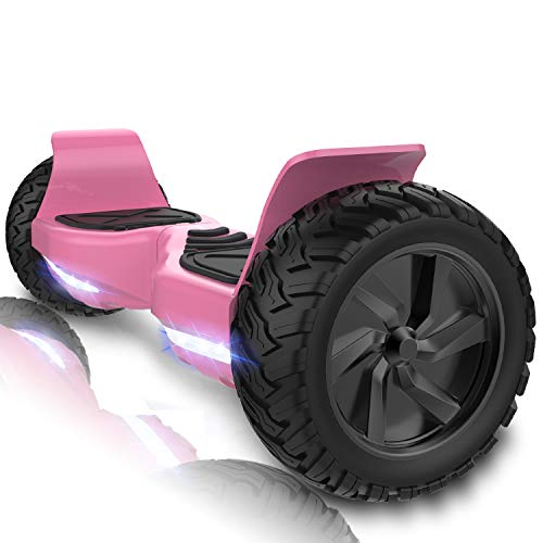 CITYSPORTS 8,5 Zoll Self Balancing Scooter Offroad SUV Elektro Skateboard Bluetooth-App (Pink)