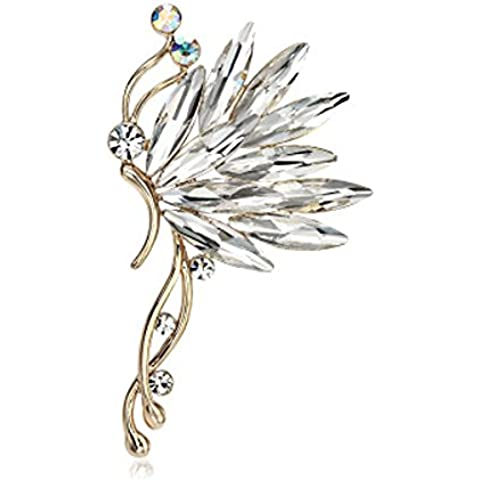 1pcs Pendiente Clip de Oreja Izquierda Cartílago Cristal Diamantes de Imitación Moda