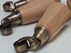 4X Pieds Bois de remplacement pour meubles Laiton antique Castor Pieds 160mm de hauteur pour canapés, chaises, tabourets canapés M8(8mm)