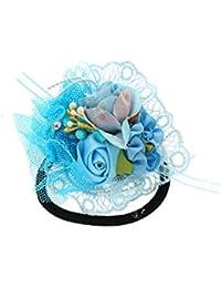 Anuradha Art Blue Colour Designer Classy Hair Accessories Hair Band Stylish Rubber Band For Women/Girls