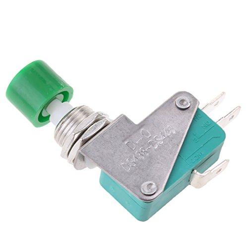 Almencla DS438 448 Reset Micro Limit Druckschalter SPDT 15A 250V NO/NC Grün -