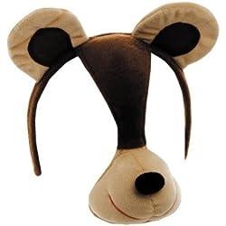 Wilbers Karnaval - Máscara de oso con diadema