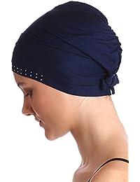 Baumwolle Kappe mit Steinen für Haarausfall, Krebs, Chemo