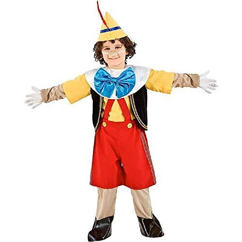 VENEZIANO Novidea Costume Vestito Carnevale Bambino Baby Pinocchio 12 18 24 Mesi 1 2 Anni (12/18 Mesi)