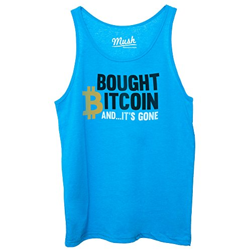 MUSH Canotta Bitcoin It's Gone by Dress Your Style Blu Royal