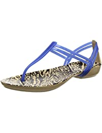 Marques Chaussure femme Crocs femme Crocs Isabella Graphic Flip W Blue Jean/Geo