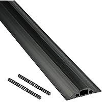 D-Line Passe Câble Sol Souple |FC68B| Passage Plancher Souple | Goulotte de Sol |  Prévient les Accidents au Travail | Liégeable | Cavité du Câble 14x9mm, Longeur 1,8m