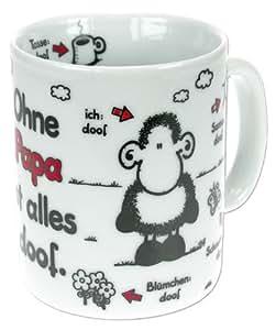 Sheepworld 58568 Namenstasse - Ohne Papa ist alles doof