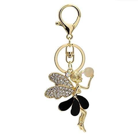 KesiErte Crystal Angel Keychain Cadeaux créatifs Prêt-à-porter Auto Parts Keychain Pendant , A