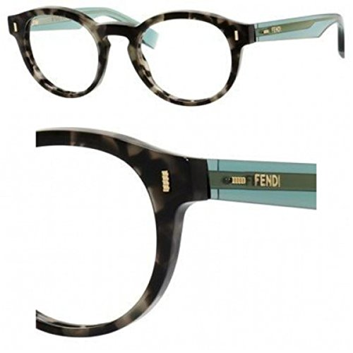 Fendi Montures de lunettes 0028 Fashion Colour block Pour Femme Amber / Blue 7OF: Maculated Grey / Green