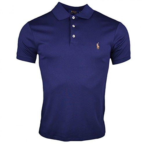 Polo Ralph Lauren Herren Poloshirt Pima Polo-SSL-KNT, Blau (Navy 003), Medium