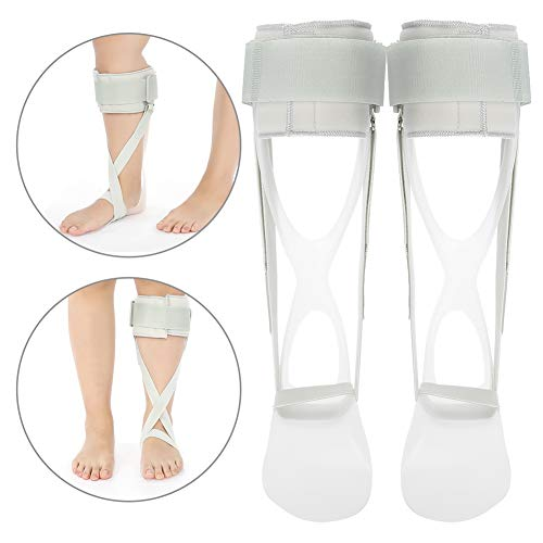 Knöchel-Fuß-Orthese, Schienen-Blattfeder-Wiederherstellungsausrüstung für Fuß-Tropfen-Knöchel-Korrektur-Klammer-Stützschutz, der den Fuß im Winkel von 90 ° stützt(6#) -