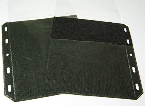 200 Stück Kronenberg24 CD DVD Blu Ray Hüllen PRO Ordner Sleeves 3in1 mit doppelseitigen Taschen für Cover, Booklets Einleger und 2 Disks 2-cd-tasche