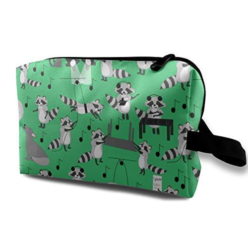 Wolf Musical Backstage Green_2962 Borse da viaggio multifunzione per borse da trucco cosmetiche da viaggio portatili per le donne