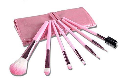 Cexin professionel 7 pinceaux de maquillage exquis avec trousse 6 couleurs