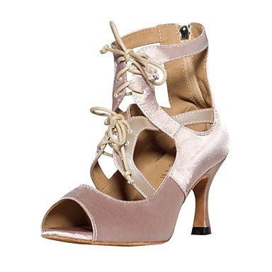 Silence @ élégant pour femme en satin Upper Danse Chaussures amande