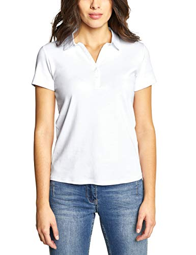 Cecil Damen 313337 Nele Poloshirt, Weiß (White 10000), Medium
