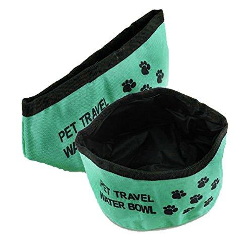 TOOGOO(R) Faltbarer Reisenapf Wassernapf Trinknapf Hund Napf Reise futternapf Futternapf 2 Stueck