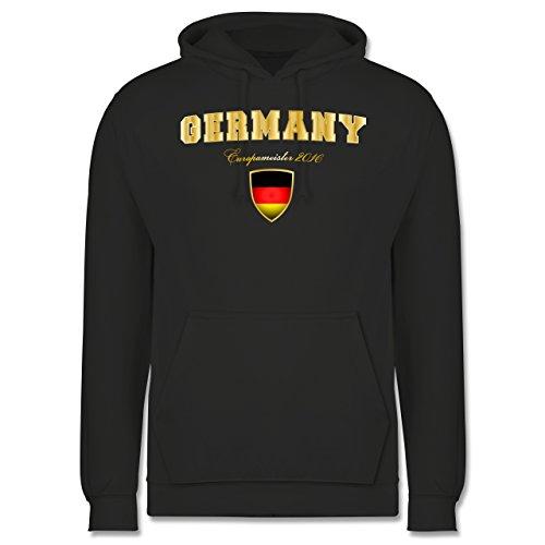 EM 2016 - Frankreich - Germany Europameister 2016 - Männer Premium Kapuzenpullover / Hoodie Dunkelgrau