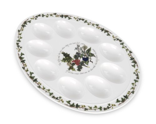 Portmeirion Holly & Ivy Devilled Eierschale, 30,5 cm -