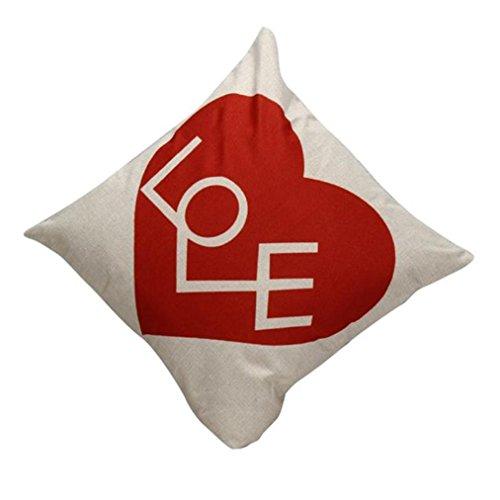 Vovotrade Liebesbrief gedruckte Taillen Wurfkissen Abdeckungs Ausgangsdekor Kissen Kasten (Gedruckt Dekorative Kissen)