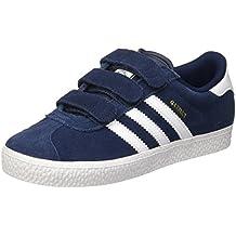 newest 1c303 a3dcc chaussures adidas gazelle 2 cf bleu marine bebe vue exterieure