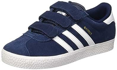 adidas Gazelle 2, Unisex-Kinder Sneakers, Blau (Collegiate Navy/Ftwr White/Ftwr White), 28 EU (10 Kinder UK)