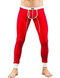 ZKOO Hombre Térmica de Calzoncillos Largo Delgado Stretch ropa Interior Térmica Largo Pantalones Leggings