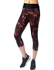 Neonysweets Leggings Femme Coton Actif Collant Pantalon Sport Course Entraînement Exericice Yoga Taille Normale