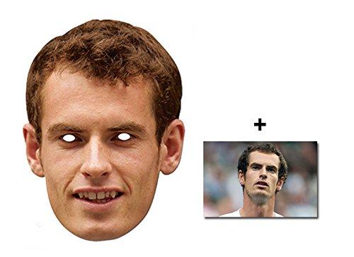 Andy Murray Berühmtheit Single Karte Partei Gesichtsmasken (Maske) Enthält 6X4 (15X10Cm) starfoto