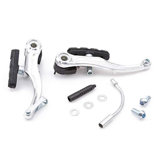 Pinhan V-Brake Set, Mountainbike Fahrrad V Bremsbelag Kabel Nudel Boot Schrauben Radfahren Aluminiumlegierung Vorne und Hinten V Bremssättel Set