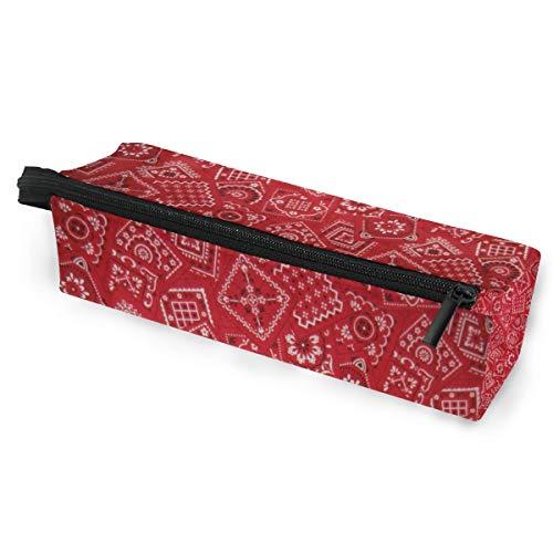 Pencil Bag Case Sonnenbrillen Red Bandana Kosmetik Studenten Briefpapier Beutel Reißverschluss für Mädchen Jungen