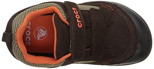 crocs Dawson Easy-on, Sneaker Unisex - bambino Marrone (Espresso/Black)