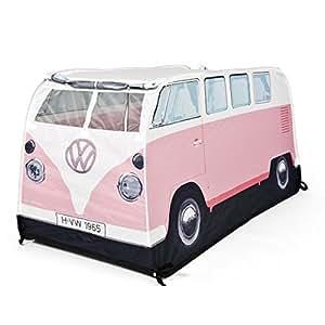Genuine Volkswagen Split Windscreen VW Camper Van Kids Childrens Pop Up Play Tent Den House - Pink