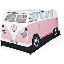 Volkswagen Camper Van Childrens Pink Pop Up Play Tent