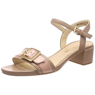 Clarks Women's Orabella Shine Ankle Strap Sandals, Beige (Nude Combi), 6 UK
