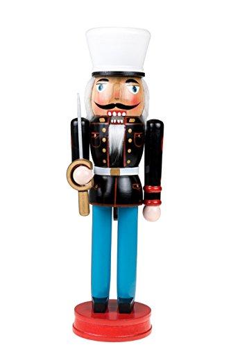 Nussknacker mit Uniform der US-Marine & Schwert - Traditionelle Weihnachtsdeko - Sammlerstück - perfekt für Regale und Tische - 100% Holz - 35,6 cm