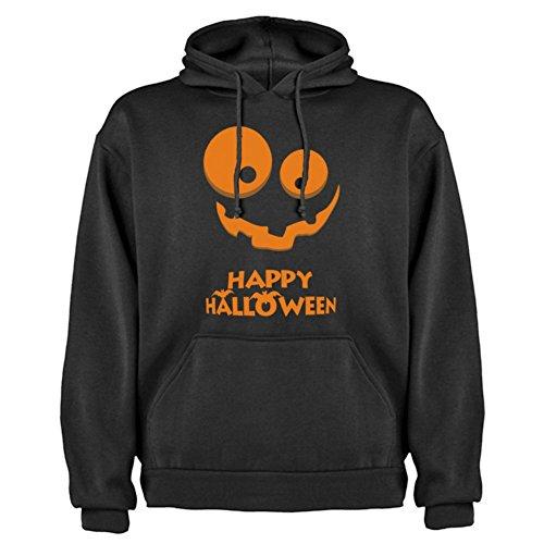 Felpa con cappuccio Unisex Happy Halloween By Bikerella NERO/COLOR
