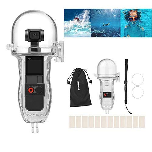 Gimbal Gehäuse (HSKB Sunnylife Camera Wasserdicht Hülle, Schutzhülle Gehäuse Wasserfeste Protective Cove Shell Tauchen 60M Unterwasserkamera Tasche Waterproof Case für DJI OSMO Pocket Gimbal Kamera (A))