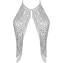 BlueSpace - Collar de Cadena para Mujer, Sexy, Bikini, Joyería, Bañador,