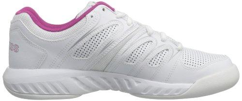 K-Swiss Calabasas, Chaussures de tennis femme Blanc (White/Magenta/Silver)
